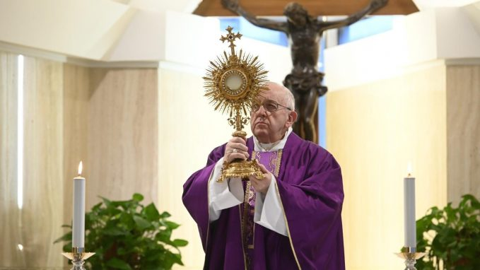 pope at mass i thank god for their heroic example By Vatican News