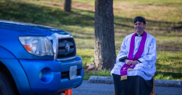 priest begins offering drive through confessions in church parking lot Washington — When public Masses in the Archdiocese of Washington were suspended in efforts to prevent the spread of the coronavirus, Fr. Scott Holmer, pastor at St. Edward the Confessor Parish in Bowie, Maryland, got creative about bringing the sacraments to his local community.