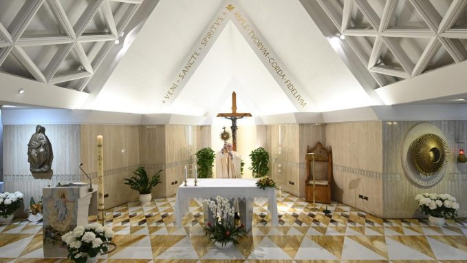pope at mass jesus prays for each of us By Linda Bordoni