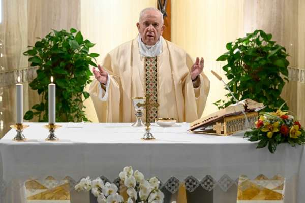 """pope prays that prudence and obedience will prevent return of pandemic Vatican City, Apr 28, 2020 / 03:30 am (CNA).- Pope Francis prayed that Christians would respond to the lifting of lockdown restrictions with """"prudence and obedience"""" as he celebrated Mass Tuesday."""