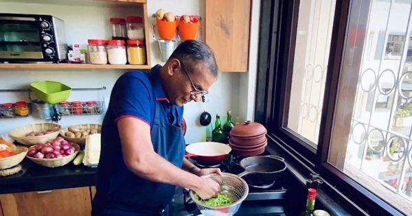"""making his kitchen his pulpit indian priest highlights the pandemics hungry MUMBAI, INDIA — From his kitchen in a suburb of North Mumbai, 50-year-old Catholic priest Warner D'Souza preaches across a kitchen counter laden with garden-fresh vegetables and finely ground spices for a one-pot meal. The mini homily is a prelude to an episode of his YouTube program, """"Food for the Soul,"""" a series of lockdown lessons about food and spirituality."""