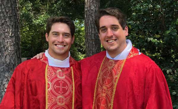 god chose to call us the story of two brothers ordained catholic priests on the same day Denver Newsroom, Jun 12, 2020 / 12:02 am (CNA).- Peyton and Connor Plessala are brothers from Mobile, Alabama. They're 18 months— one school grade— apart.