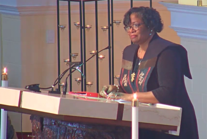 environmental scientist roots work in sanctity of life a conversation with sylvia hood washington Sylvia Hood Washington speaks Feb. 12, 2017, at St. Columba Catholic Church in Oakland, California, in a screenshot via St. Columba's YouTube channel (NCR photo)