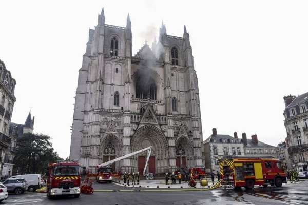 nantes cathedral fire altar server charged with arson Rome Newsroom, Jul 26, 2020 / 04:00 am (CNA).- A church volunteer has admitted to starting the fire at Nantes Cathedral and was charged with arson on Saturday.