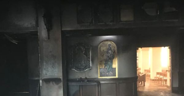 suspect arrested charged with felonies in crash fire at florida church Orlando, Fla. — A man crashed his van through the doors of Our Lady Queen of Peace Church in Ocala, Florida, early in the morning July 11 and once inside, the church's pastor said, the man set the interior of the church ablaze and drove off.