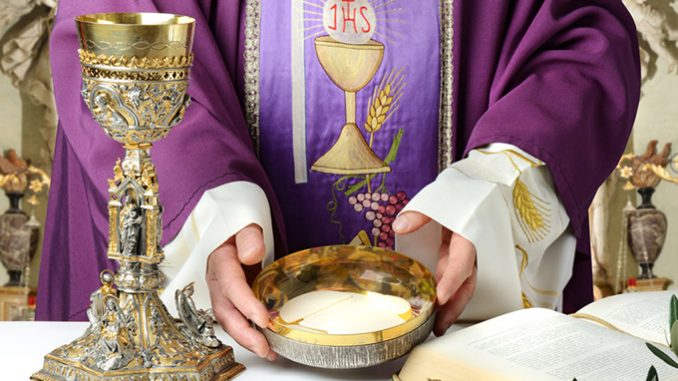 """rediscovering the reality of the eucharist Thinking out loud about a return to """"Sunday normal,"""" a veteran pastor recently told me that he thought it would take one year for each month of lockdown/quarantine/ shelter-at-home for Mass attendance to return to where it was in February 2020. I said I hoped that people's hunger for the Eucharist would bring them back more quickly, once they concluded that it was reasonably safe, for themselves and others, to do so. But whether """"Sunday normal"""" returns this year or next year, the """"Sunday normal"""" of February 2020 isn't something for which we should easily settle. Because """"Sunday normal"""" isn't what it should be. This extended moment of Eucharistic fasting may be a providential moment to do something about that."""