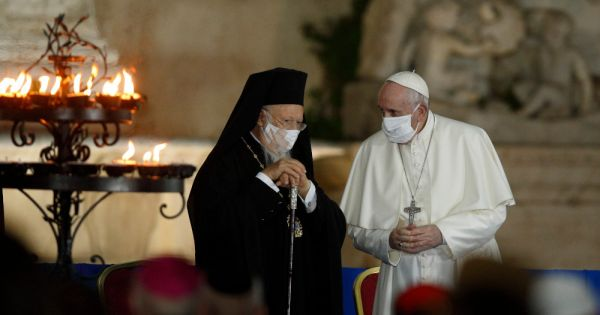franciscan university honors patriarch for theological work on ecology Rome — Paying tribute to Ecumenical Patriarch Bartholomew of Constantinople for his contributions to the theology and spirituality of care for the environment, the Franciscan-run Pontifical University Antonianum awarded him an honorary doctorate.