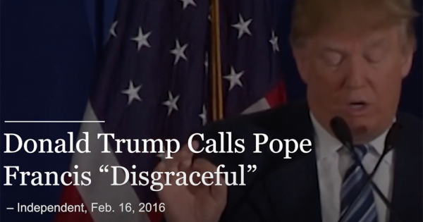 new bipartisan super pac ad highlights catholic opposition to trumps reelection A recently formed bipartisan Christian political action committee opposed to President Donald Trump's reelection has released a new ad targeting Catholic voters, highlighting recent polling showing the majority of Catholics are voting against him.