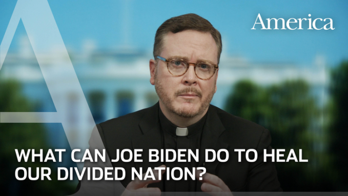 matt malone sj what joe biden could do to heal our divided nation Editor's note: On Wednesday, Matt Malone, S.J., the editor in chief of America, sharedwith Sebastian Gomeshis thoughts about the election results and his hopes for a Joe Biden presidency, should the former vice president reach the needed270 electoral votes. A selection of questions and answers are excerpted below. They have been edited for clarity. The full conversation can be viewed above.