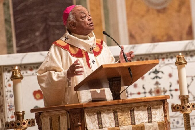 the inescapable politics of being washingtons cardinal Cardinal-designate Wilton Gregory, the archbishop of Washington, gives his homily during Mass for All Saints' Day Nov. 1 at the Cathedral of St. Matthew the Apostle in Washington. (CNS/Catholic Standard/Mihoko Owada)