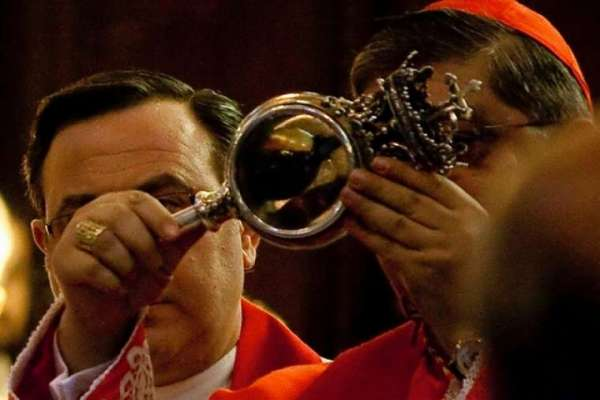 blood of st januarius fails to liquefy on december feast Rome Newsroom, Dec 16, 2020 / 12:00 pm (CNA).- In Naples, the blood of St. Januarius remained solid Wednesday, after having liquefied both in May and September this year.