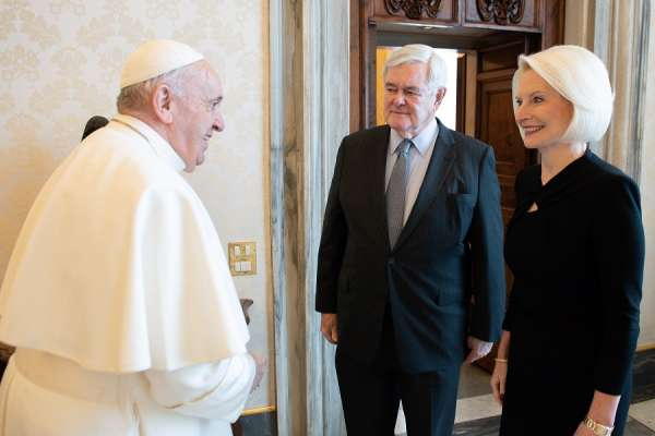 vatican ambassador callista gingrich has farewell meeting with pope francis Vatican City, Jan 15, 2021 / 12:40 pm (CNA).- The United States ambassador to the Holy See, Callista Gingrich, met with Pope Francis Friday as she prepares to leave Rome in tandem with the end of Donald Trump's presidency.