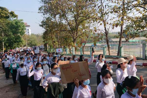 """burmas catholic bishops call for peace and dialogue as two protesters killed Rome Newsroom, Feb 22, 2021 / 08:00 am (CNA).- TheCatholicbishops of Burma have called for a """"return to dialogue"""" as two protesters were killedduring demonstrations over the weekend."""