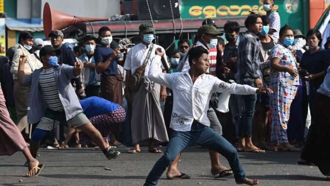 myanmar rival protest groups clash as pressure grows to resolve crisis By Devin Watkins