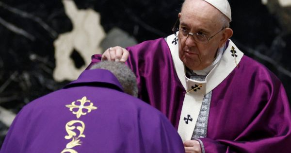 17 February 2021 Holy Mass and imposition of the ashes Pope Francis