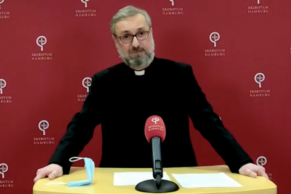 """german catholic archbishop offers to resign from office after abuse report findings CNA Staff, Mar 18, 2021 / 03:00 pm (CNA).- A German Catholic archbishop announced on Thursday that he was offering his resignation to Pope Francis and requesting """"immediate release"""" from all duties."""
