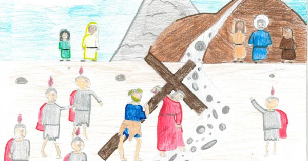 pope chooses way of the cross meditations written by kids Vatican City — Knowing that Rome, like all of Italy, would be under varying degrees of lockdown during Holy Week and Easter, Fr. Luigi D'Errico asked youngsters in his parish to draw illustrations and write a series of reflections on the Way of the Cross.