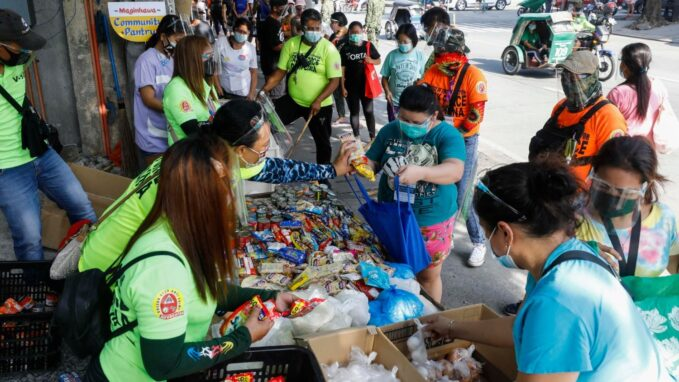 community pantries for needy mushrooming in the philippines By Robin Gomes