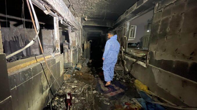 fire at iraqi hospital kills 82 many injured By Nathan Morley