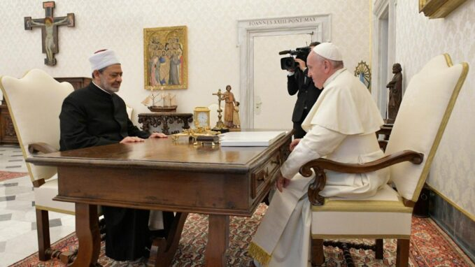 """new book tells story of human fraternity document """"The Pope and the Grand Imam: A Thorny Path - A Testimony to the Birth of Human Fraternity"""" is a newly published book by Judge Mohamed Abdelsalam, Secretary-General of the Higher Committee of Human Fraternity (HCHF). The book gives a detailed account about the stages in the creation of the Human Fraternity Document (HFD), before it was eventually signed on 4 February 2019 by Pope Francis and Ahmed el-Tayeb, the Grand Imam of Al-Azhar, in Abu Dhabi."""
