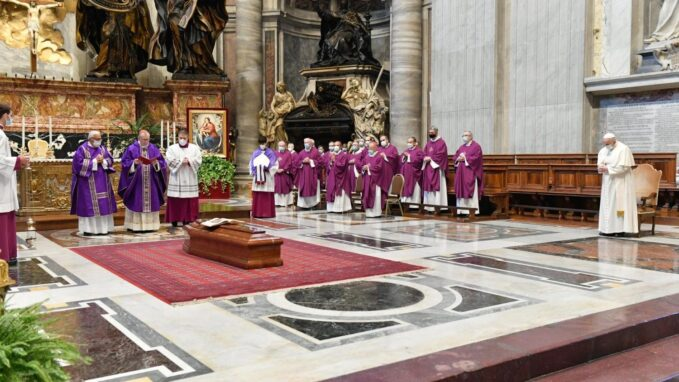 pope attends funeral mass of former papal almoner By Vatican News staff writer