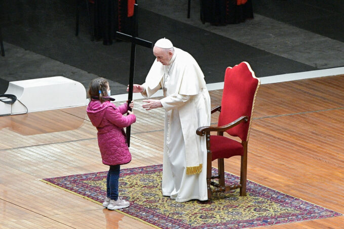 pope francis leads via crucis seen through the eyes of children With Italy still facing coronavirus restrictions, this was the second year in succession that the Via Crucis was not held at the Colosseum, a Roman amphitheater associated with the Christian martyrs.
