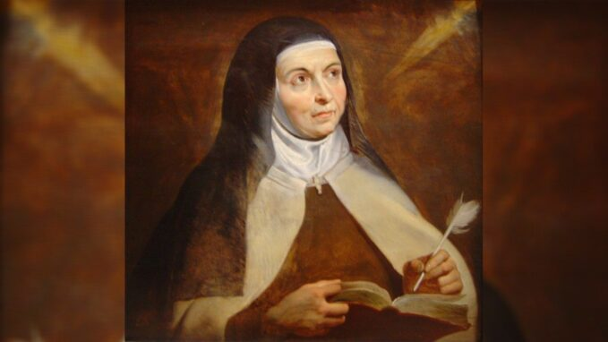 pope st teresa of avila shows importance of women in church and society By Vatican News staff writer
