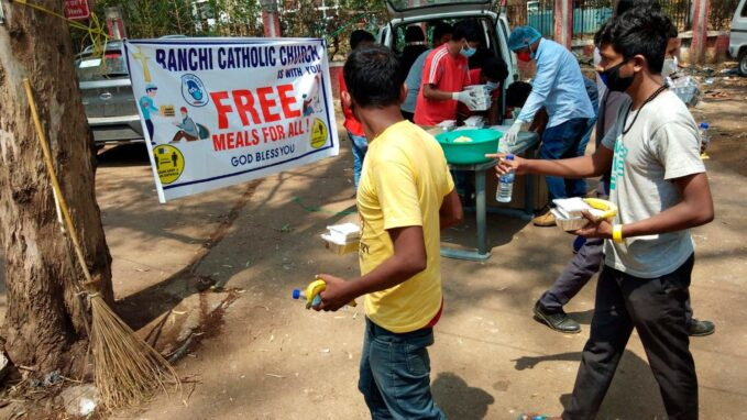 india ranchi church offers free lunch to relatives of covid 19 patients By Robin Gomes