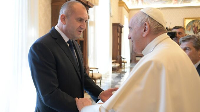 pope francis meets with the president of bulgaria By Vatican News staff writer